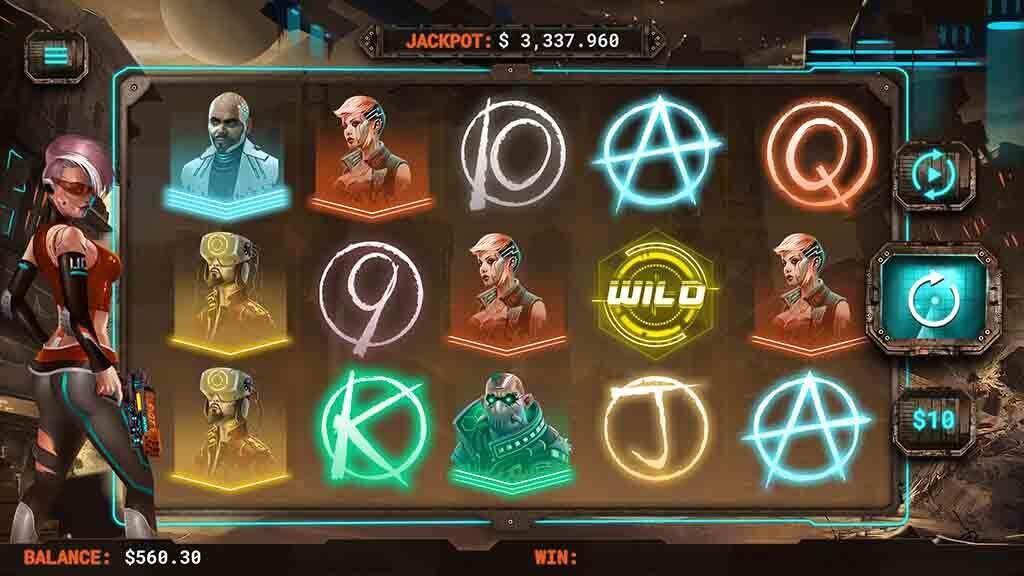 Screenshot of Cyberpunk Wars